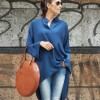 Extravagant Loose Navy Shirt A11106