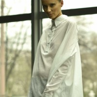 White  Loose Asymmetric Shirt A11208