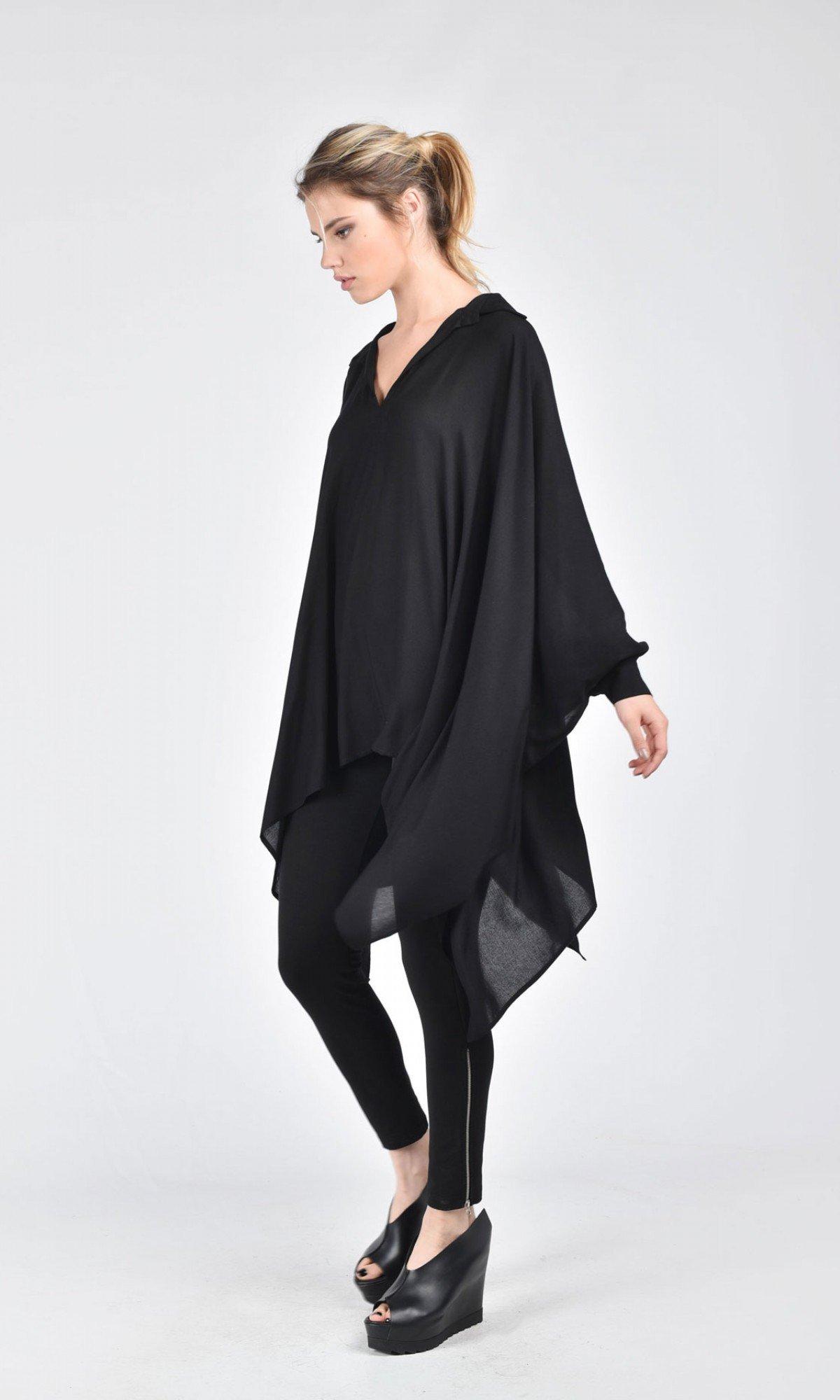 Extravagant Chiffon Flared Shirt  A11427
