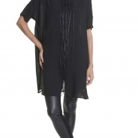 Black Maxi Asymmetric Loose Shirt