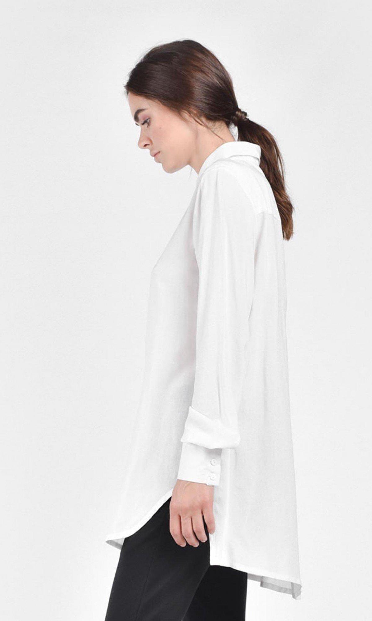 Classic Elegant White Shirt A11439