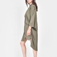 Irregular side slits cotton shirt A11542