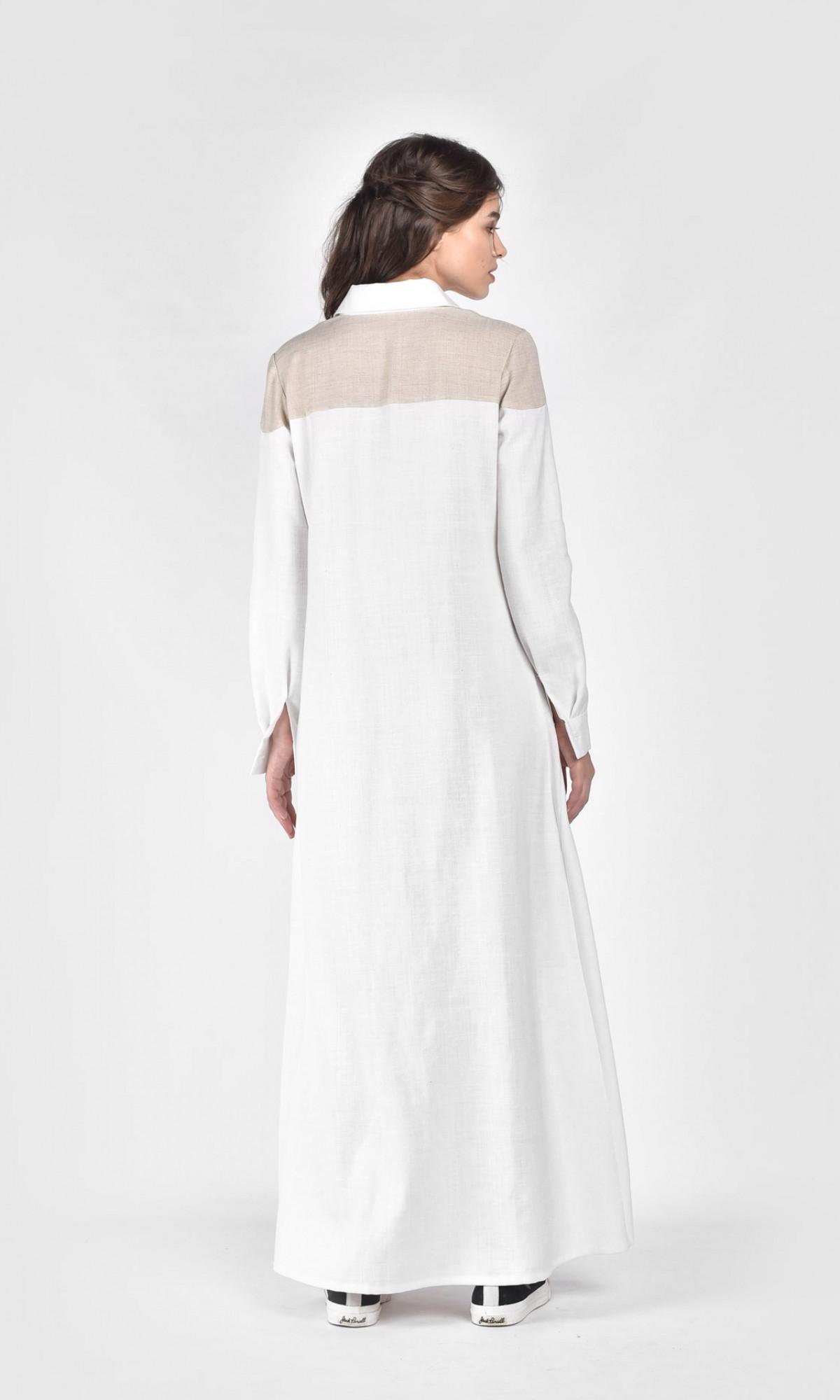 2cb74ceaa4a ... Extra Long Linen Shirt Dress A03687 ...