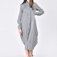 Elegant Stripped Shirt Dress A11721