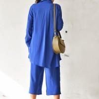 Asymmetric Buttoned Long Sleeve Shirt A90239