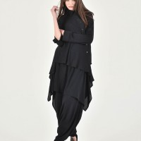 Asymmetric Buttoned Long Sleeve Shirt A90239