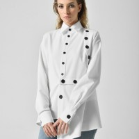 Extravagant Extra Buttoned Long Sleeve Shirt A90436