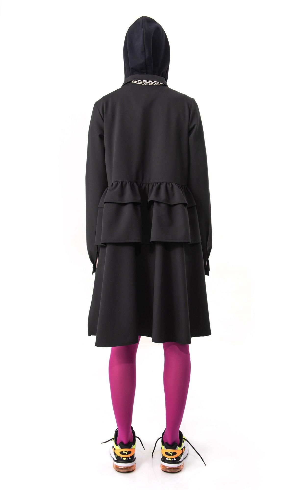 Layered Ruffle Shirt Dress