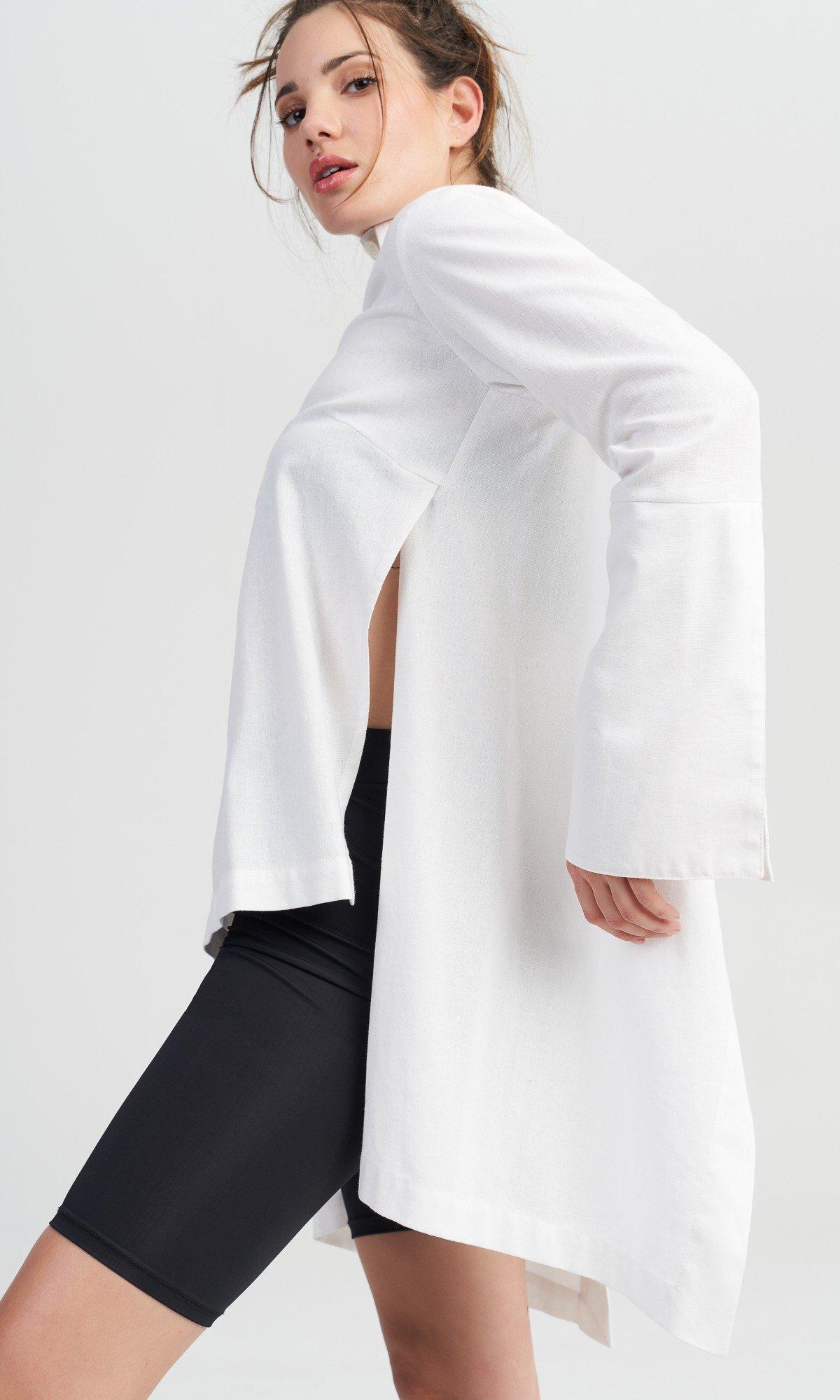 Elegant Asymmetric Linen Shirt