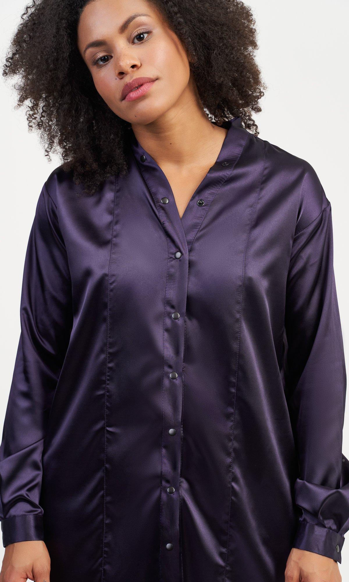 Long  Satin Shirt