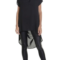 Black Loose Extravagant Tunic