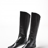 Genuine Leather White Platform Zipper Boots A21347