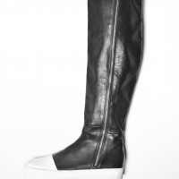 Genuine Leather White Platform Zipper Boots A21346M