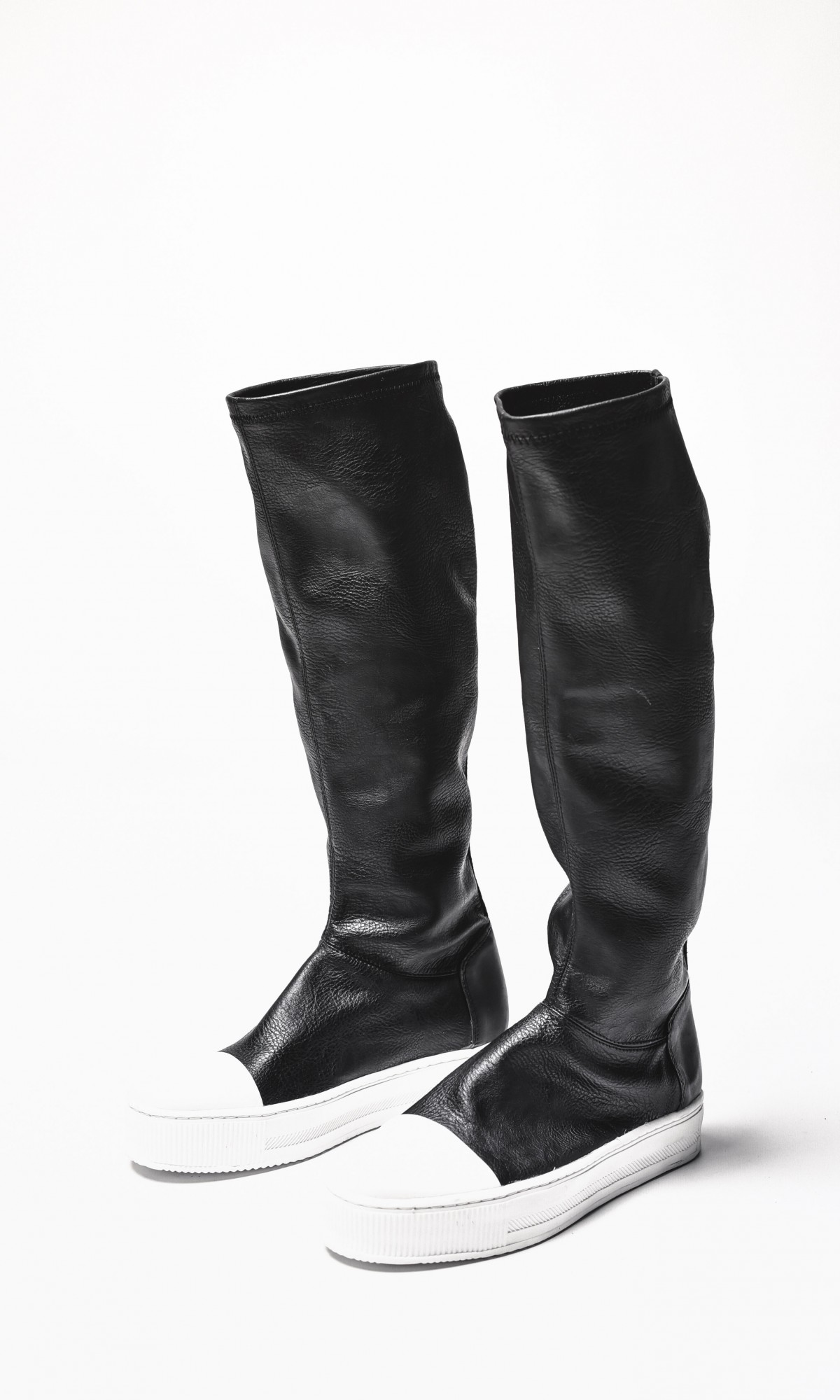 Boots - Genuine Leather High Elastic Boots A21490