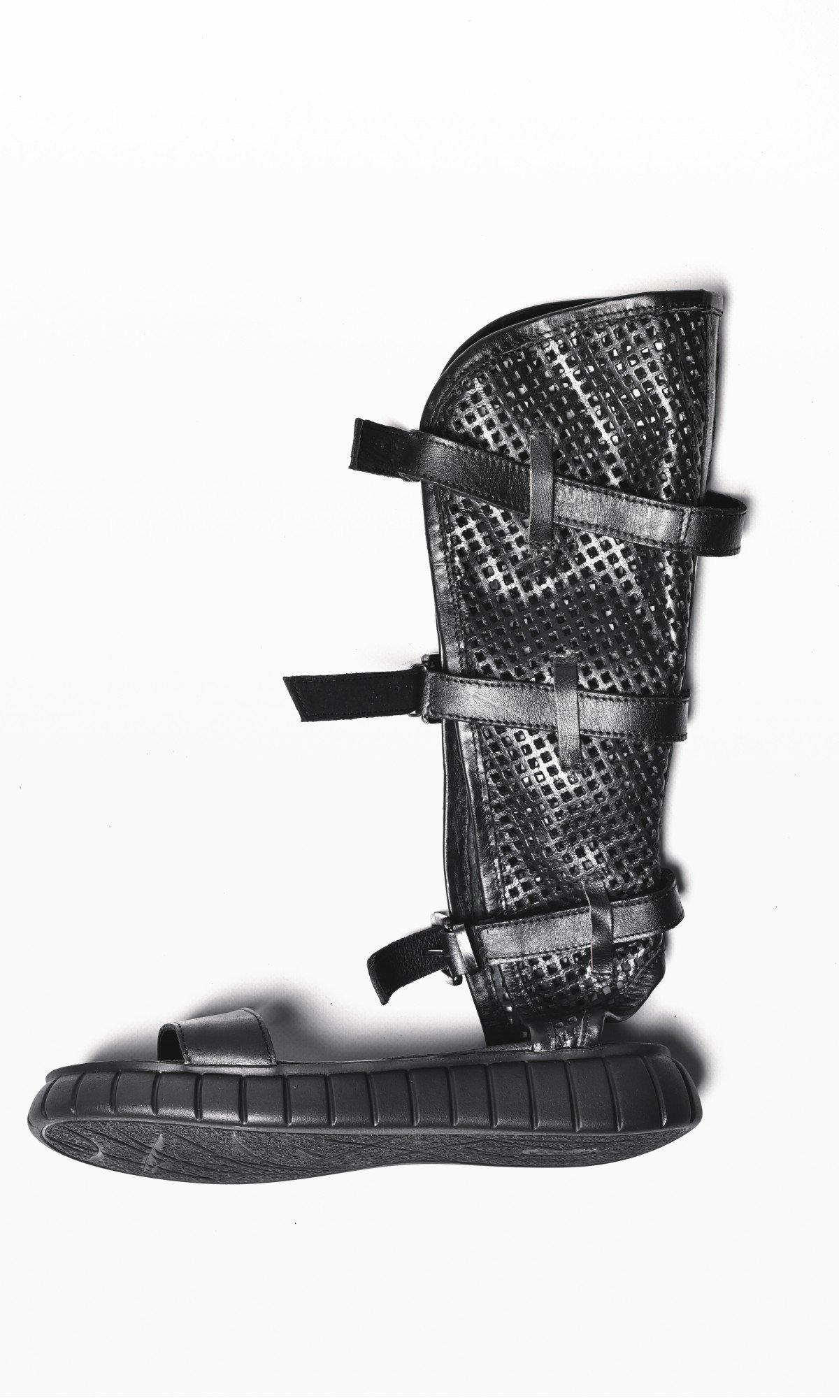 Genuine Leather Mesh Gladiator Style Sandals A26444