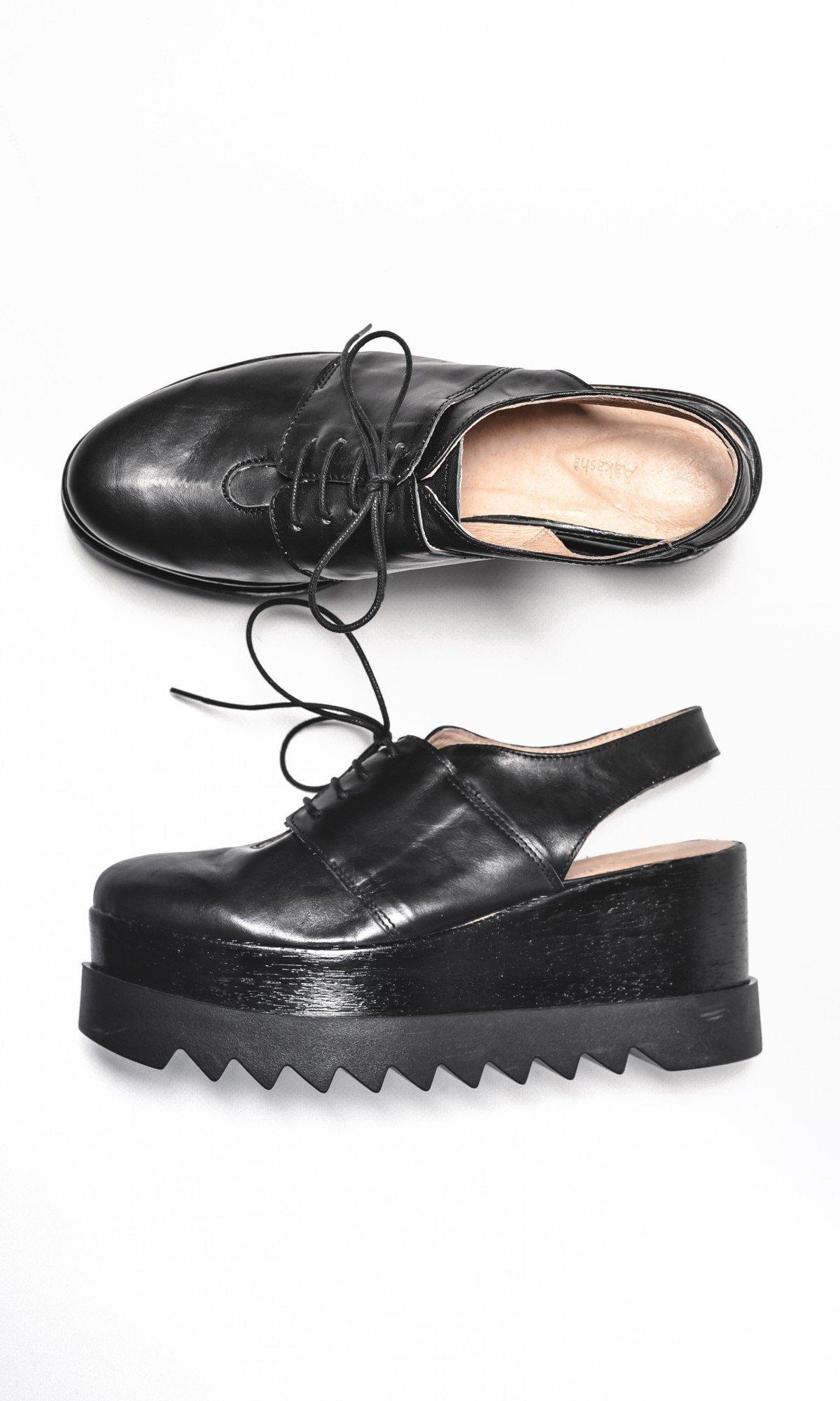 Open back platform sandals A15610