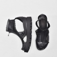 Black Mesh Sandals A26680