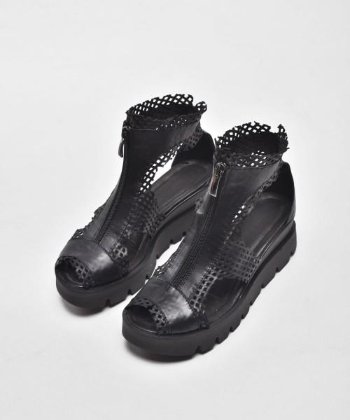 Black Mesh Sandals A90104