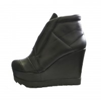 High Quality Leather Ankle Wedges A15727