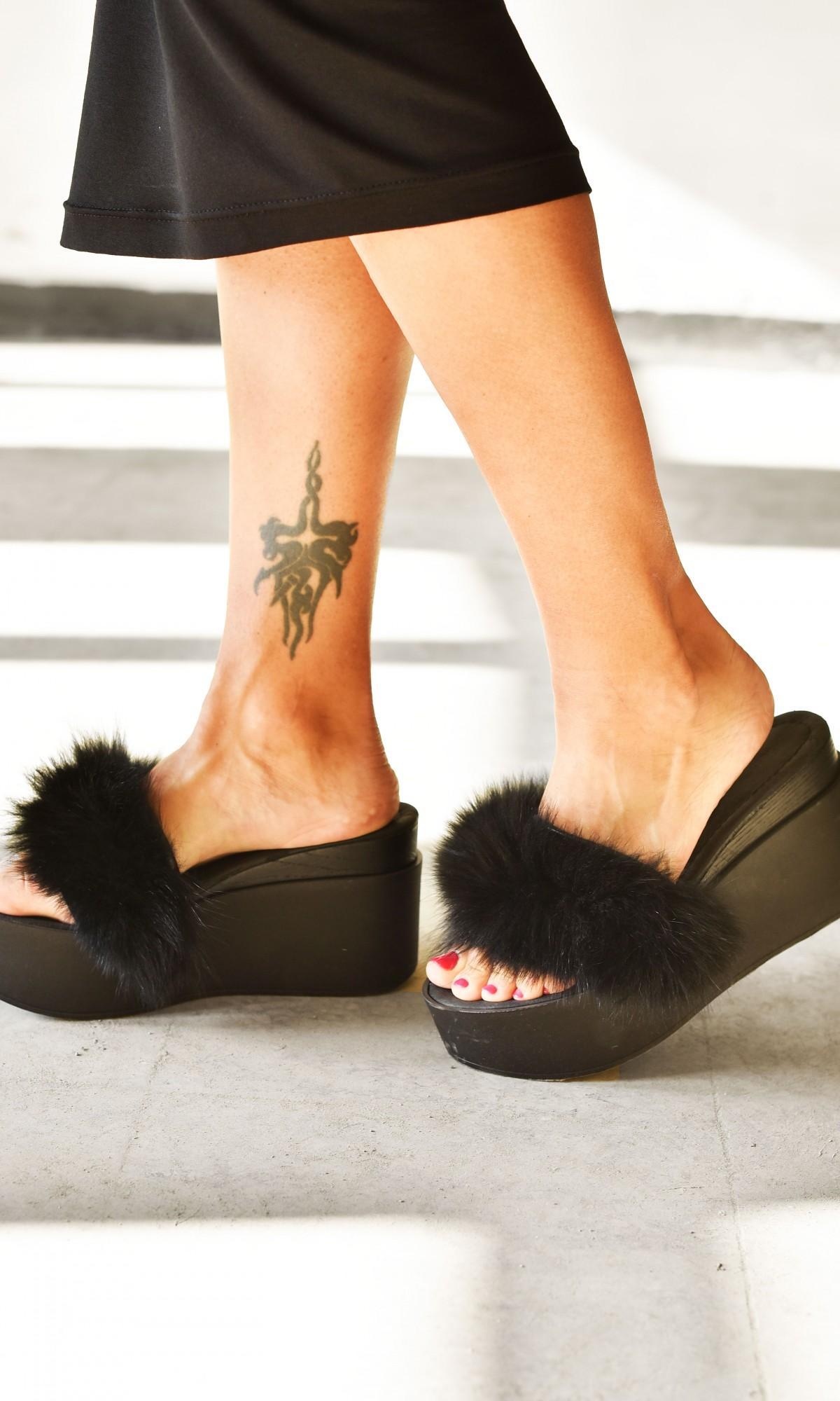 Fluffy Fur Sandals A90279