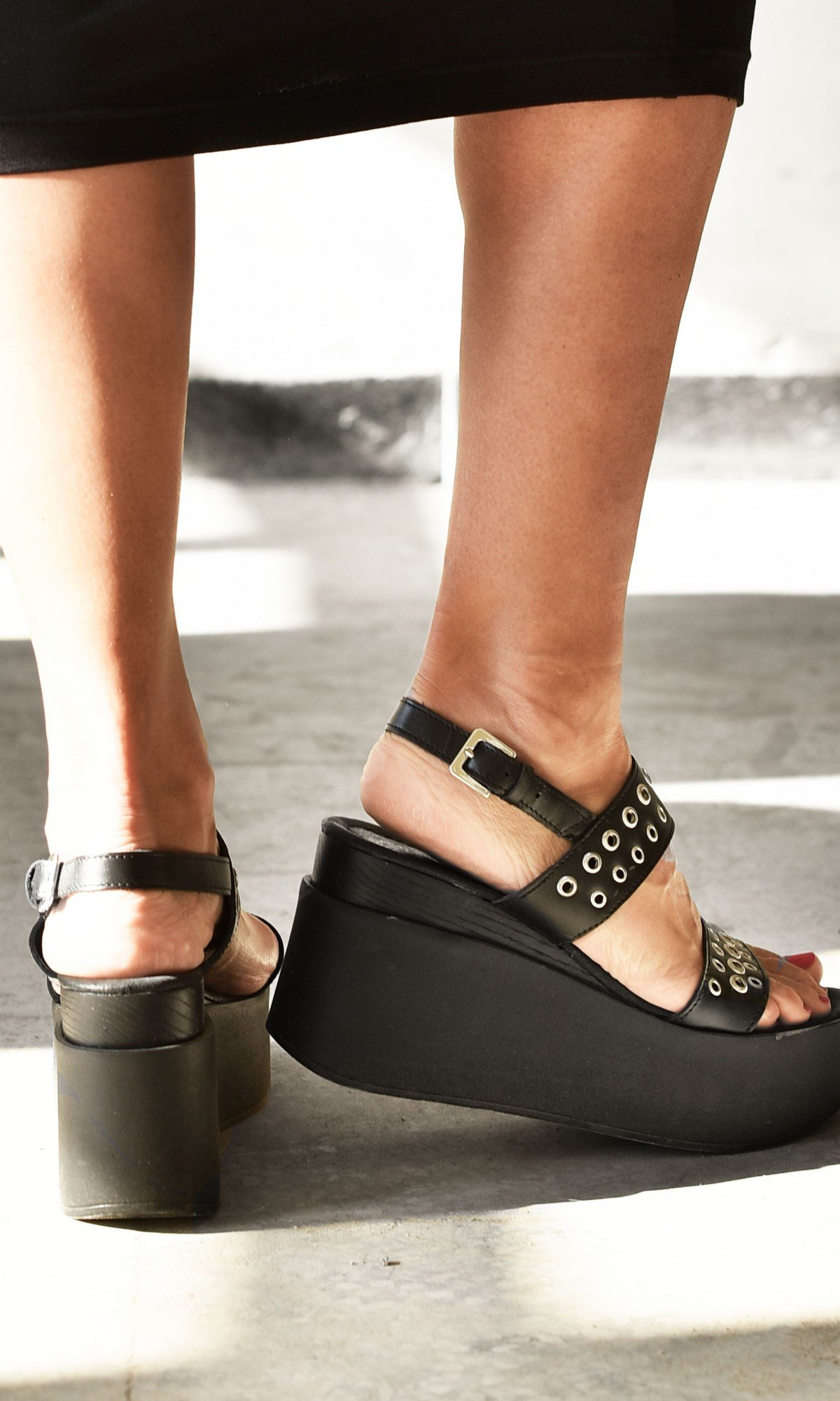 Even Metal Studs And Rivets Sandals A26813