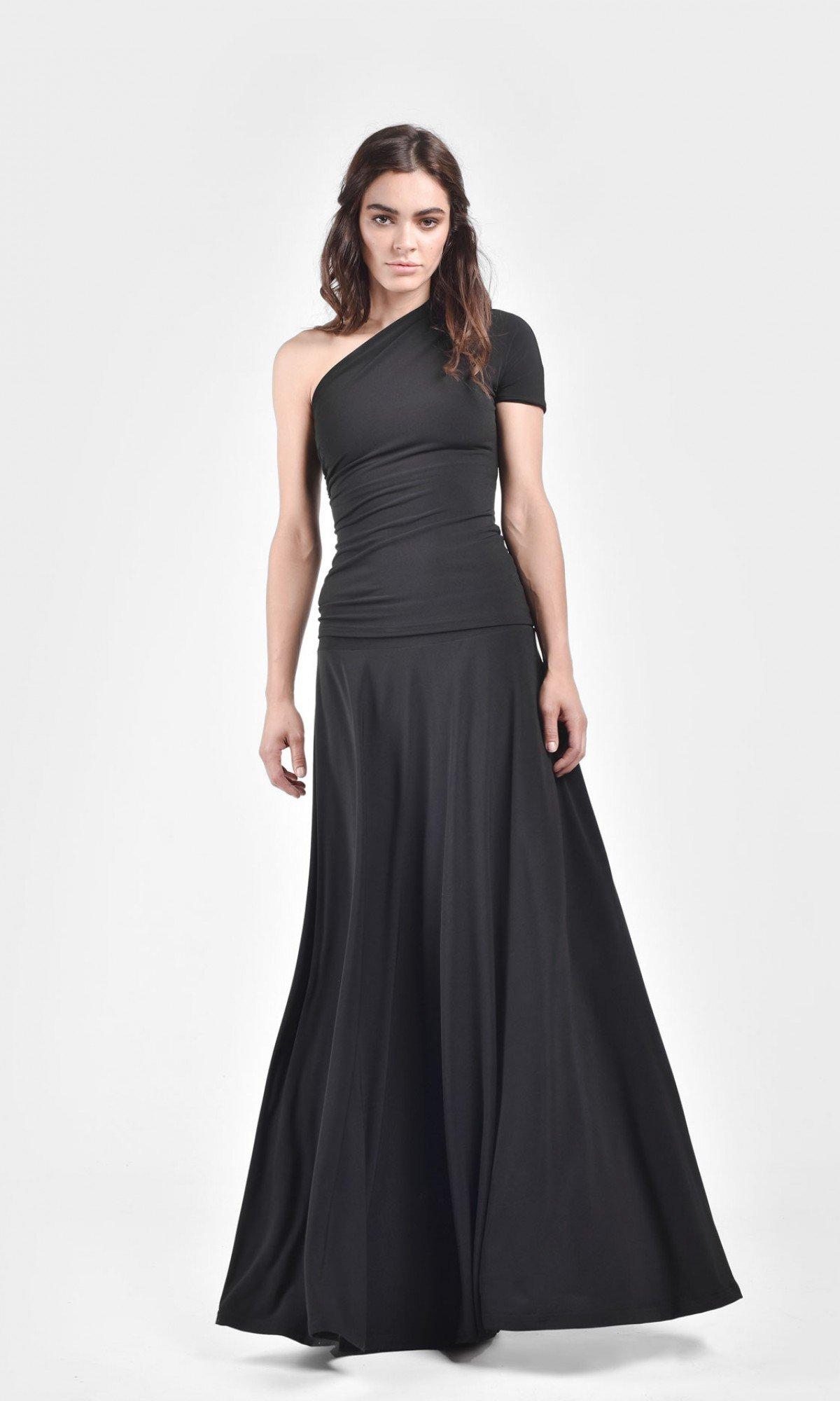 Rich Maxi Flared Skirt A09504