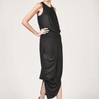 Front Pocket Asymmetric Skirt A90040
