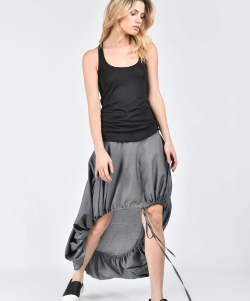 Extravagant Loose Grey Skirt A09496