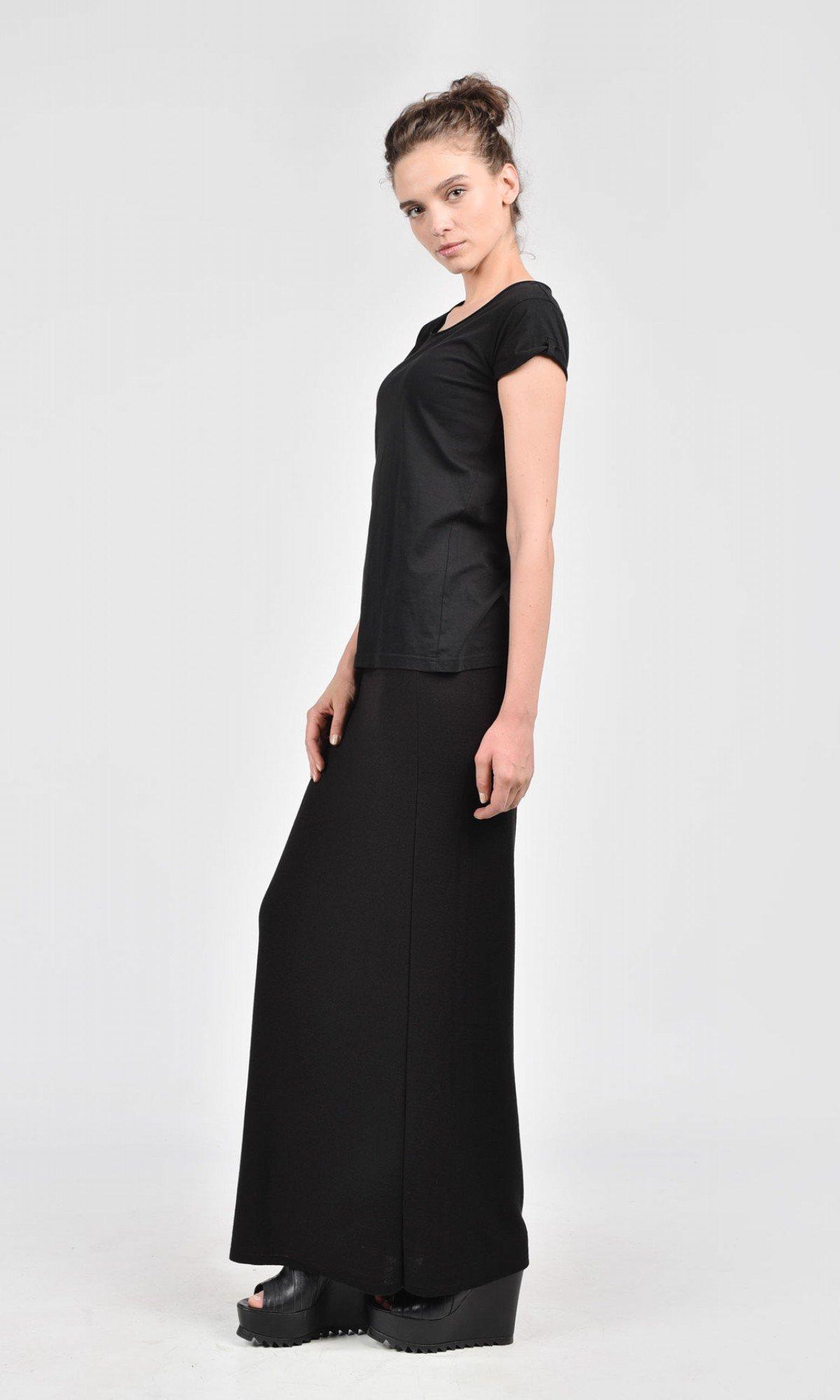 Black Knit Skirt A09515