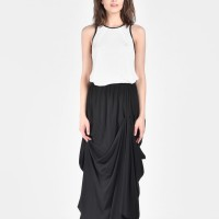 Maxi Extravagant Draped Skirt A09656