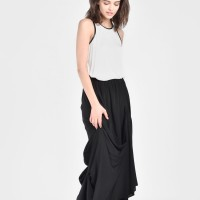 Maxi Extravagant Draped Skirt A90068