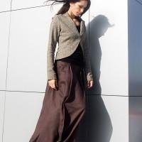 New Linen Maxi Extravagant Skirt A90395