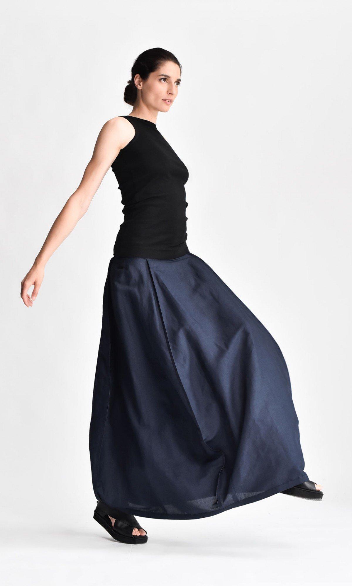 Linen Maxi Extravagant Skirt A03903