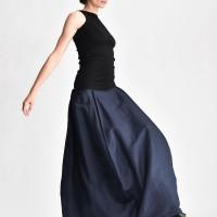 Linen Maxi Extravagant Skirt A90395
