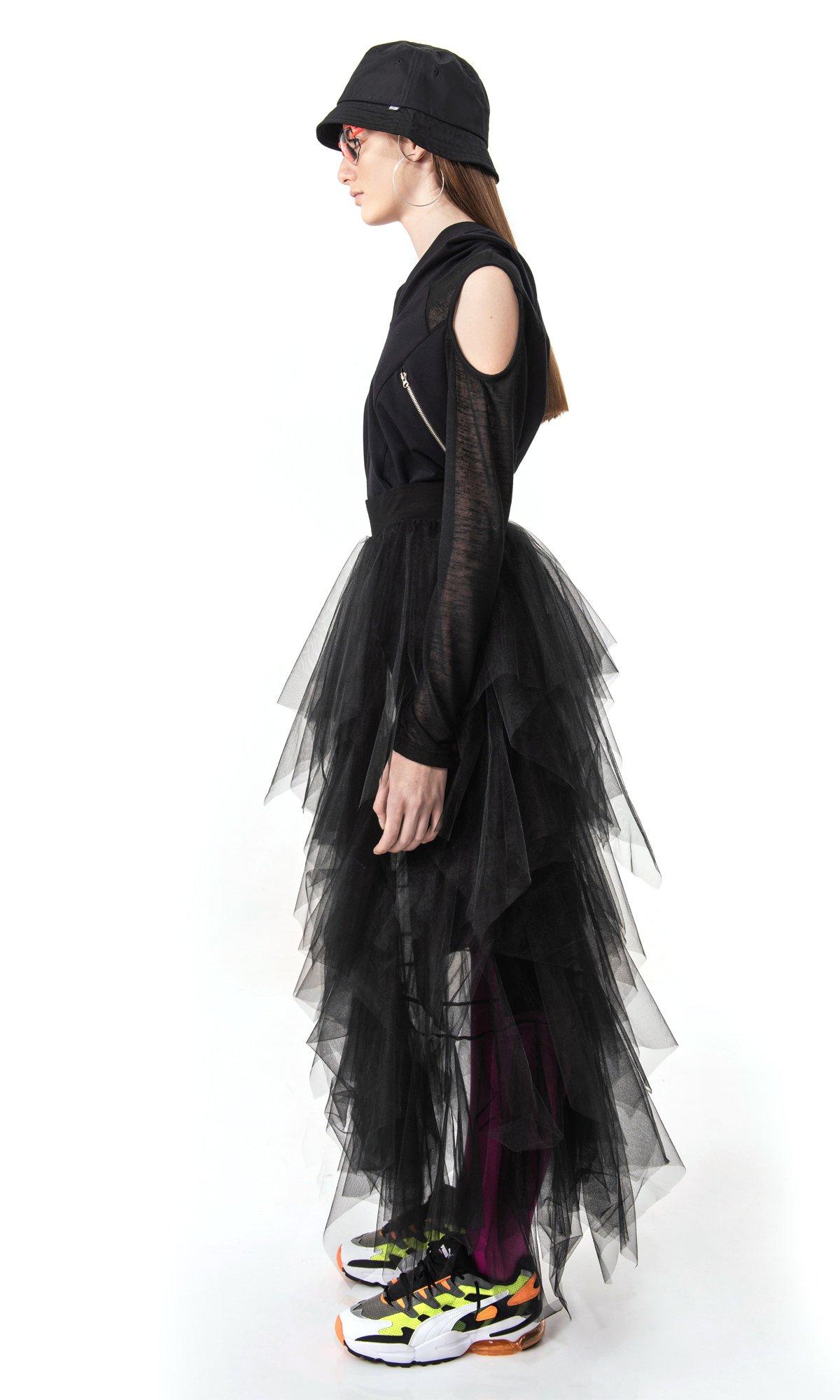 Extravagant Tulle Maxi Skirt A90557
