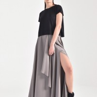 Maxi Extravagant Draped  Skirt A90480