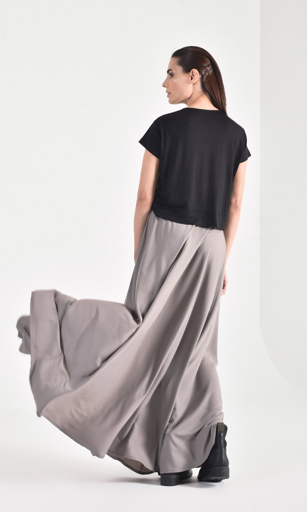 Maxi Extravagant Draped  Skirt A90480