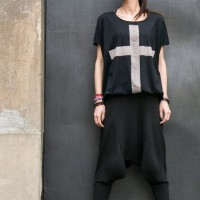 Black Cross Tee