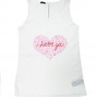 Printees - I heart you Print Tank Top A044020414