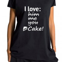 Printees - I love cake print T-shirt A224000254