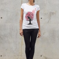 Cute Heart Tree Print T-shirt