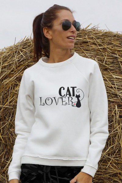 Cute Cat Lover Print Sweatshirt A084050389