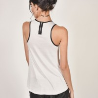 Tops - Sexy Eco Leather Neckline Tank Top A04410