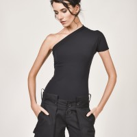 Black Lomellina Top A12503