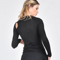 Sexy Long-sleeved Top With A Bare Shoulder A04020