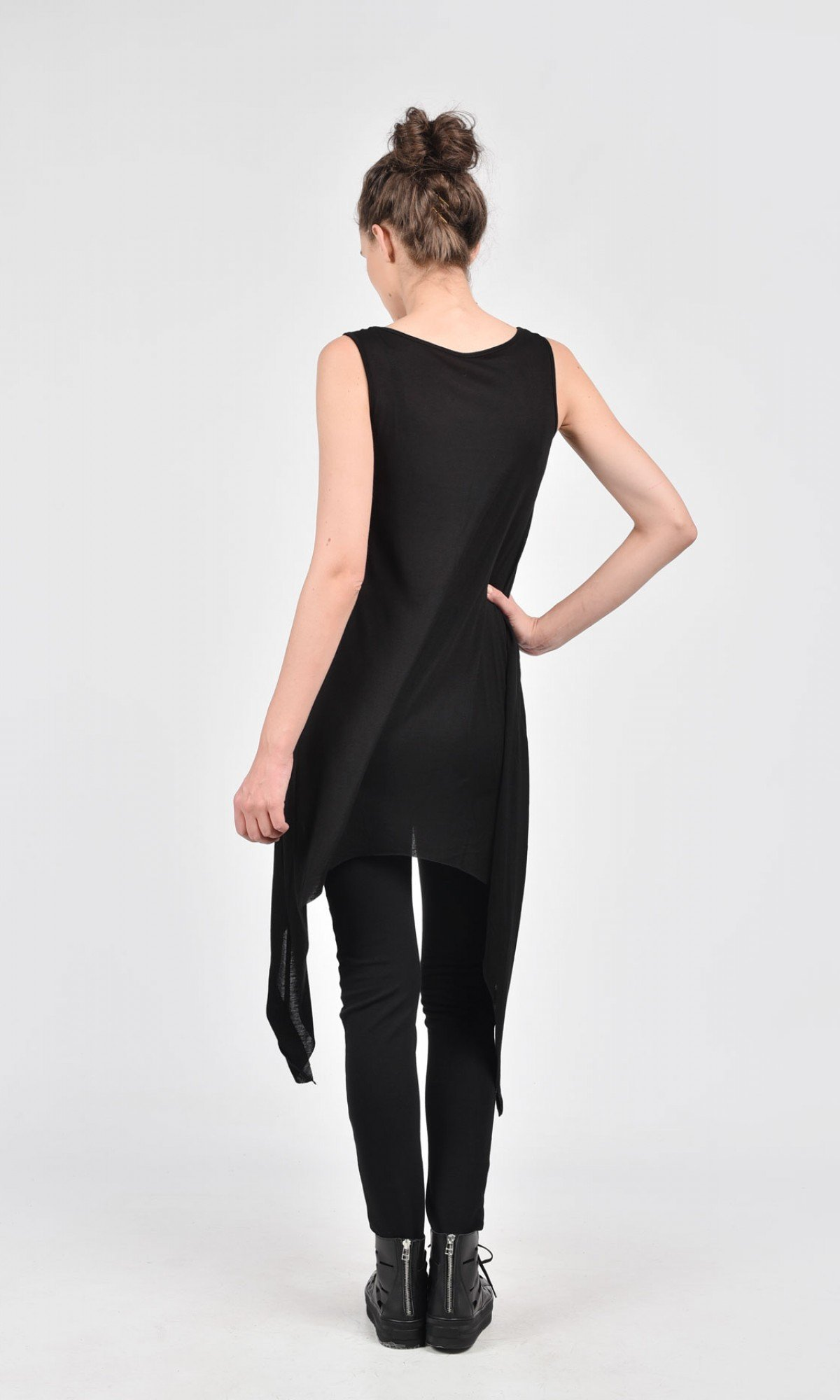 Sexy Black Asymmetric Top A04127