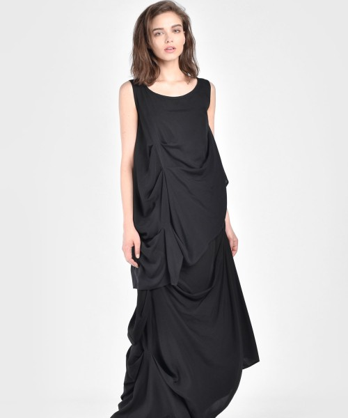 Maxi Extravagant Draped Top A90069