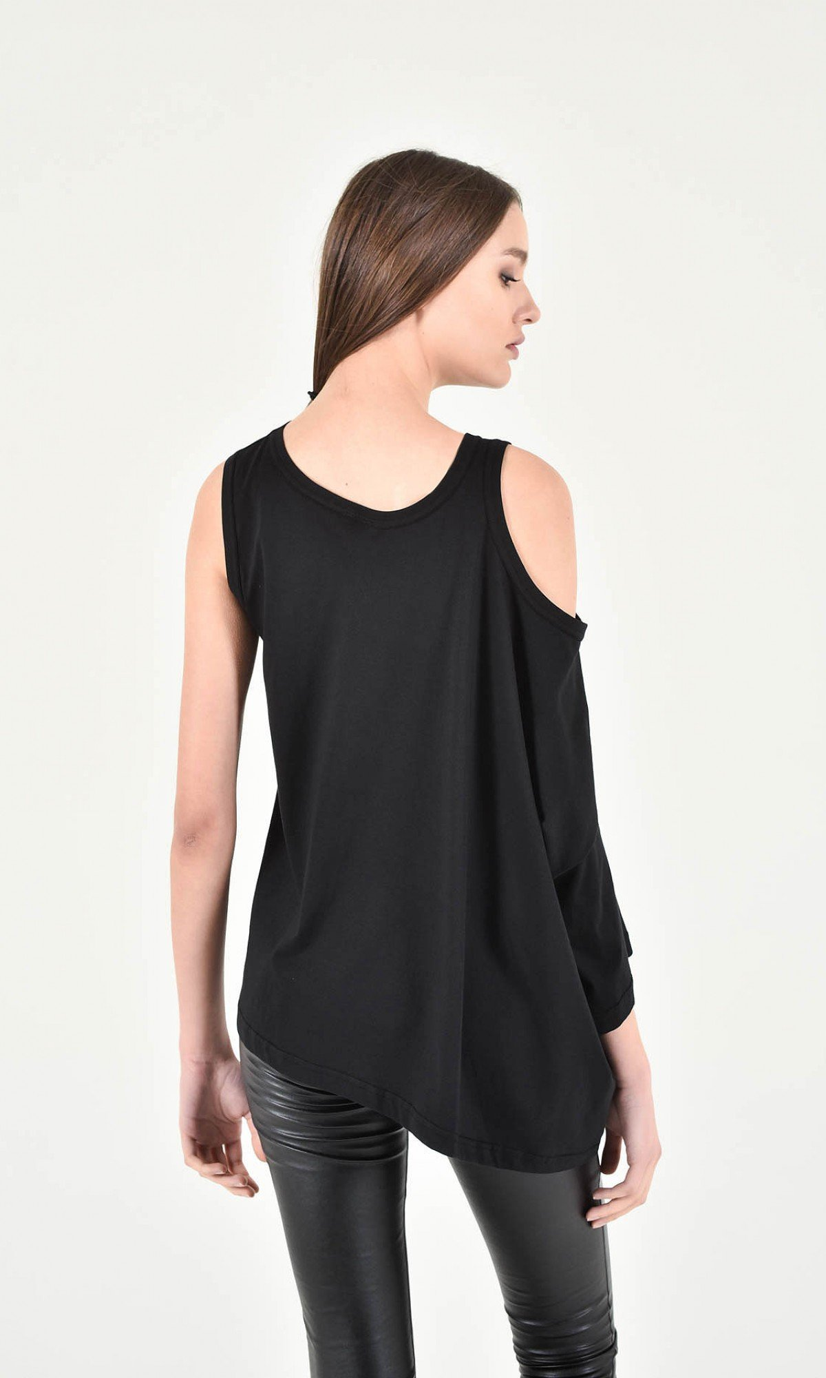 Sexy One Sleeve Short Top A90238