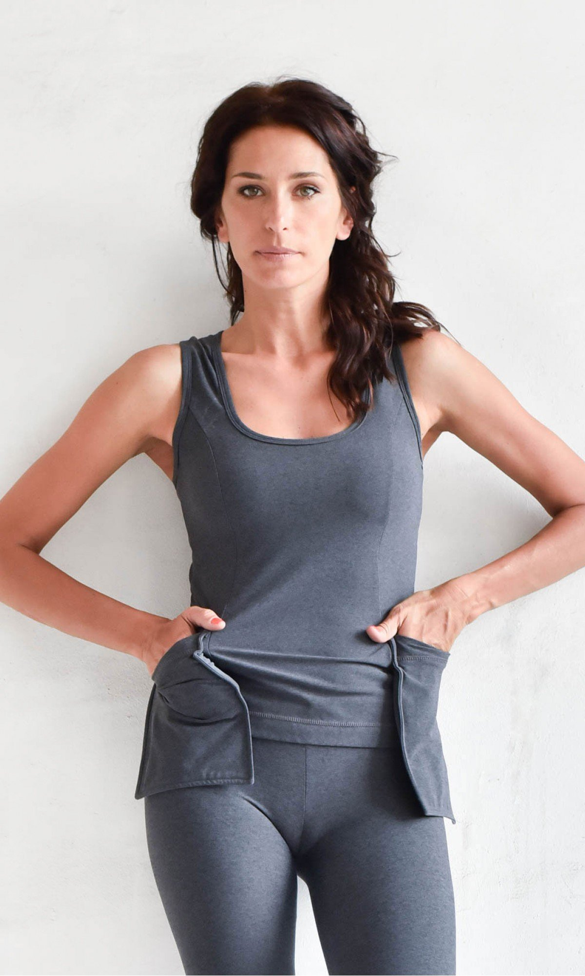 Elegant Front Pockets Yoga Top A90347