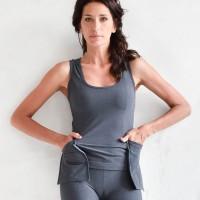 Elegant Front Pockets Yoga Top A90347